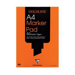 Goldline Marker Pad Bleedproof 70gsm 50 Sheets A4 White Ref GPB1A4Z [Pack 5]