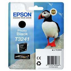 Epson Puffin T3241 (14ml) Ultrachrome Hi-Gloss2 Photo Black Ink Cartridge for SureColor SC-P400 Printer