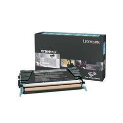 Lexmark Black High Yield Return Program Toner Cartridge (Yield 12,000 Pages) for C736/X736/X738
