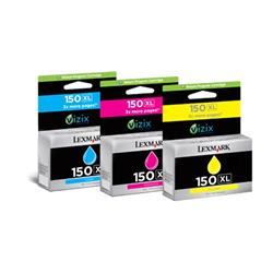 Lexmark 150XL Colour (Cyan/Magenta/Yellow) High Yield Return Program Ink Cartridge for Lexmark PRO715 and Lexmark PRO915 Inkjet Printers