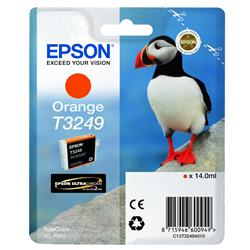 Epson Puffin T3249 (14ml) Ultrachrome Hi-Gloss2 Orange Ink Cartridge for SureColor SC-P400 Printer