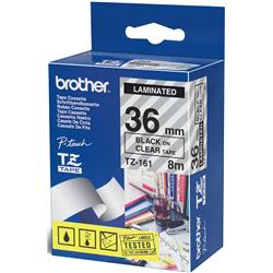 Brother P-touch TZ-FX151 (24mm x 8m) Black On Clear Gloss Laminated Flexi Labelling Tape