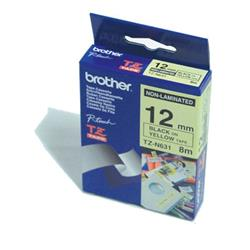 Brother P-Touch TZ-N631 (12mm x 8m) áBlack On Yellow Non-Laminated Labelling Tape
