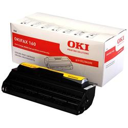 OKI Black Toner Cartridge (Yield 2,400 Pages) for OkiFax 160 Fax Machines