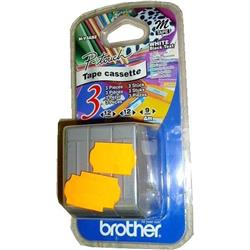 Bundle: Brother P-touch M-V3ABZ Starter Tapes Black on White Multi Pack Includes 2 x MK231SBZ (12mm x 4m) and 1 x MK221SBZ (9mm x 4m)