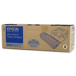Epson 0437 High Capacity Toner Cartridge (Yield 8,000 Pages) Black for AcuLaser M2000 Laser Printer