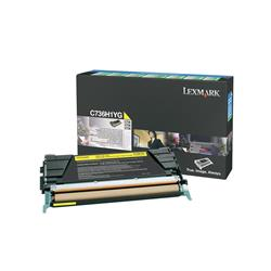 Lexmark Yellow High Yield Return Program Toner Cartridge (Yield 10,000 Pages) for C736, X736, X738 Colour Laser Printers