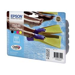 Epson Picture Pack containing T5846 Tri-Colour Photo Cartridge + Photo Paper (150 Sheets) for PictureMate 240/280