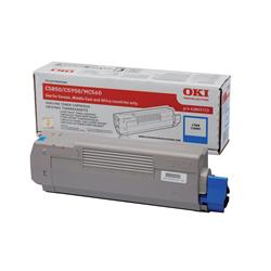 OKI 43865723 (Yield: 6,000 Pages) Cyan Toner Cartridge