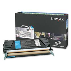Lexmark Cyan Return Programme Toner Cartridge (Yield 1,500 pages) for C520, C530 Colour Laser Printers