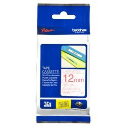 Brother P-touch TZe-132 (12mm x 8m) Red On Clear Laminated Labelling Tape