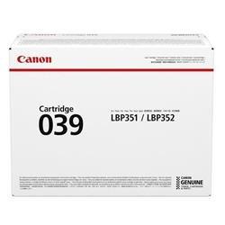 Canon 039 (Yield 11,000 Pages) Standard Black Toner Cartridge for i-SENSYS LBP351/LBP352 Printers
