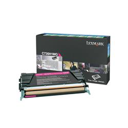 Lexmark Magenta High Yield Return Program Toner Cartridge (Yield 10,000 Pages) for C736/X736/X738 Colour Laser Printers
