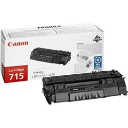 Canon 715 (Black) Toner Cartridge (Yield 3,000 Pages)