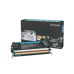 Lexmark Cyan High Yield Return Program Toner Cartridge (Yield 10,000 Pages) for C736/X736/X738