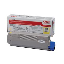 OKI 43865721 (Yield: 6,000 Pages) Yellow Toner Cartridge