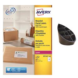 Avery LR7165 QuickPEEL Recycled Addressing Labels White Ref LR7165-100 - 800 Labels - FREE 100% Recycled Pen Pot