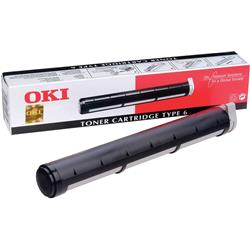 OKI Type 6 Black Toner Cartridge (Yield 1,500 Pages) for OkiPage/OkiFax/OkiOffice Series Fax/Printers