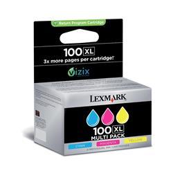 Lexmark 3-Pack 100XL Color (Cyan/Magenta/Yellow) High Yield Return Program Ink Cartridges
