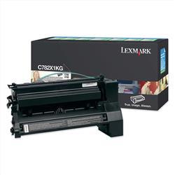 Lexmark C782/X782 Black Extra High Yield Return Program Print Cartridge (Yield 15,000 Pages)