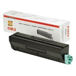 OKI Type 9 High Capacity Black Toner Cartridge (Yield 6,000 Pages) for B4300/B4350 Desktop Mono Printers