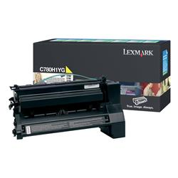 Lexmark Yellow High Yield Return Program Toner Cartridge (Yield 10,000 Pages) for C780/C782/X782