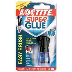 Loctite Super Glue Easy Brush in Anti-spill safety Bottle 5g Ref 87819150 - 3 for 2
