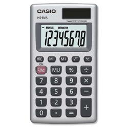 Casio HS8V-SUH Handheld Calculator Battery/Solar-power 8 Digit 3 Key Memory Ref HS8V-S-U-H