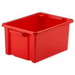 Strata Midi Storemaster Crate 360x270x190mm Red Ref HW044