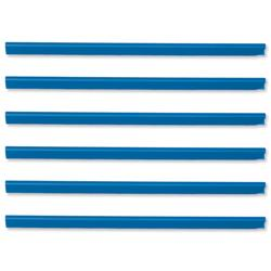Spine Bars for 60 Sheets A4 Capacity 6mm Blue - Pack 50