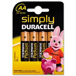 Duracell MN1500 Simply AA Battery Ref 81235210 - Pack 4