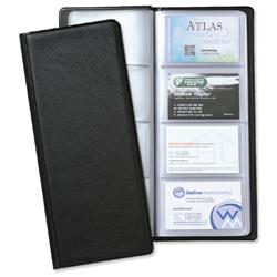 5 Star Office Classic Business Card Holder PVC 64 Pockets for 128 Cards 280x110mm Black