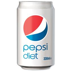 Diet Pepsi Soft Drink Can 330ml Ref 202428 [Pack 24]