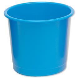 5 Star Office Waste Bin Polypropylene 14 Litres D304xH254mm Blue