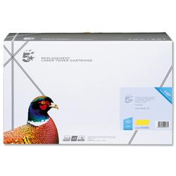 5 Star Office Remanufactured Laser Toner Cartridge 10000pp Yellow [HP No. 643A Q5952A Alternative]