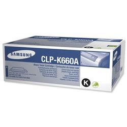 Samsung Laser Toner Cartridge Page Life 2500pp Black Ref CLP-K660A/ELS