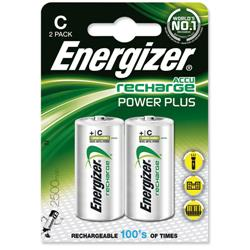 Energizer Battery Rechargeable Advanced Size C 1.2V NiMH 2500mAh HR14 1 Ref 633001 - Pack 2