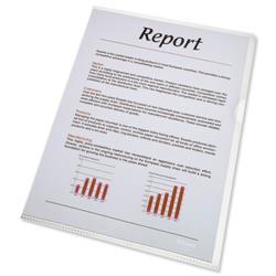 Esselte Standard Folder Plastic Cut Flush Copy-safe A4 Clear Ref 54810 - Pack 100