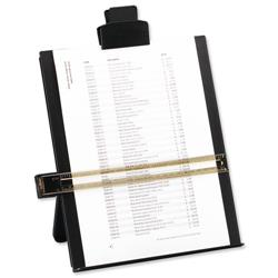 5 Star Office Desktop Copyholder with Line Guide Ruler A4 Black