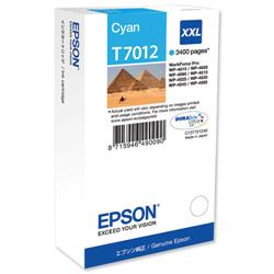Epson T7012 Cyan Extra High Capacity Ink Cartridge Ref C13T70124010