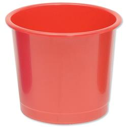 5 Star Office Waste Bin Polypropylene 14 Litres D304xH254mm Red