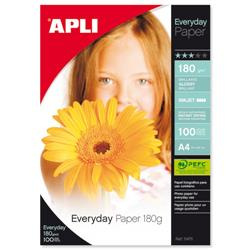 Apli Everyday A4 Glossy Paper 180gsm Ref 11475 - Pack 100