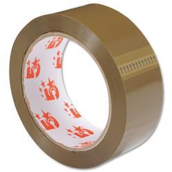 5 Star Office Packaging Tape Polypropylene 38mm x 66m Buff [Pack 6]