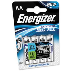 Energizer Ultimate Battery Lithium LR03 1.5V AAA Ref 632965 - Pack 4