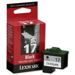 Lexmark No. 17 High Resolution Moderate Use Black Inkjet Cartridge Ref 10NX217E