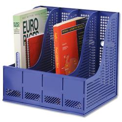 Storage Rack for Lever Arch Polypropylene 4 Sections Blue