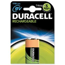 Duracell Battery Rechargeable Accu NiMH 170mAh 9V Ref 81364739