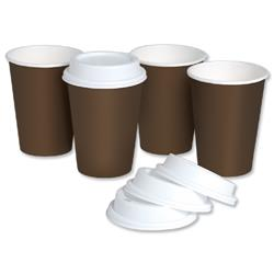 Coffee Cup and Drink Through Lid Combi Pack 10oz 296ml - Pack 50