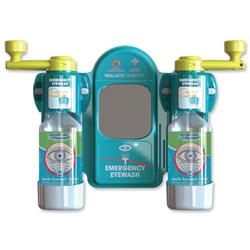Wallace Cameron Eyewash Station Standard Mirror 2x Eyewash Bottle Ref 2402057