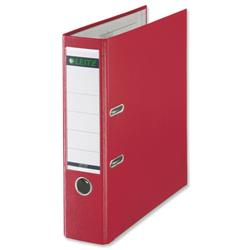 Leitz Lever Arch File Plastic 80mm Spine A4 Red Ref 10101025 [Pack 10] - Claim Free Gifts with Leitz